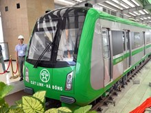 河内市首条高架城铁车站开放(组图)