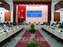 柬埔寨计划部代表团造访越南后江省
