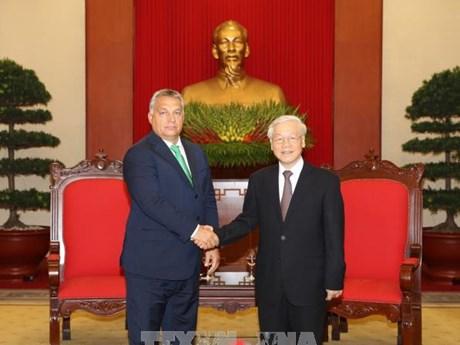 越共中央总书记阮富仲: 越南重视同匈牙利的传统友好关系