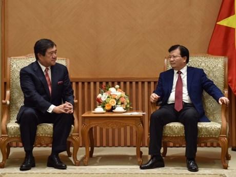 政府总理郑廷勇会见日本三井物产株式会社社长安永龙夫