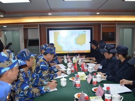 越中海警举行北部湾共同渔区海上会晤