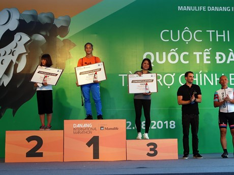 2018年岘港国际马拉松赛:越南运动员在三个赛项夺得冠军